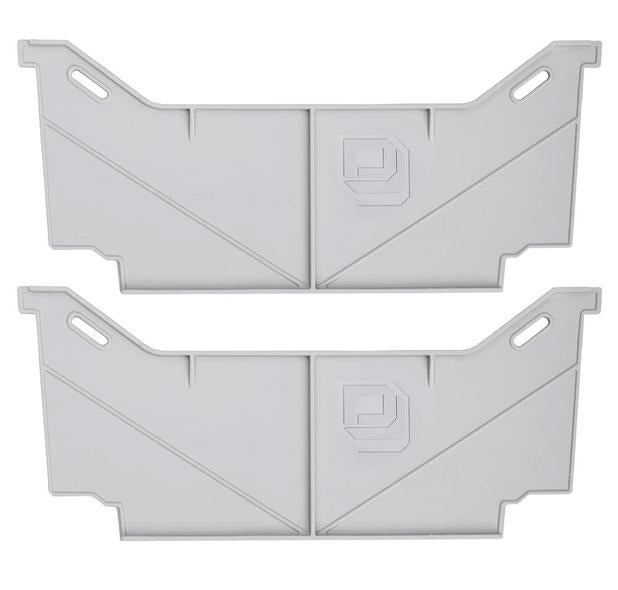 Decked AD8WIDEx2 Fits 2 Locking tab wide drawer dividers - (1) one set of two Light gray in color
