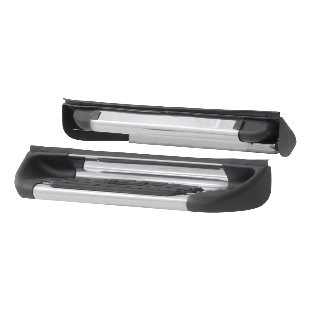Polish Stainless Steel Side Entry Step Box Extensions, Select Ford F-250, F-350