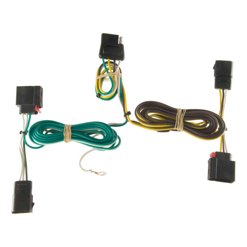 Custom Wiring Harness, 4-Way Flat Output, Select Dodge Durango