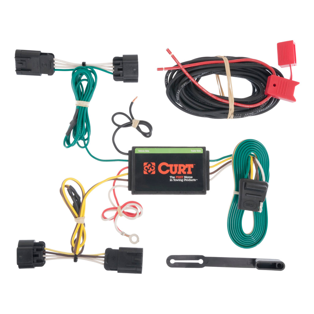 CURT 56179 Vehicle-Side Custom 4-Pin Trailer Wiring Harness, Select Dodge Dart
