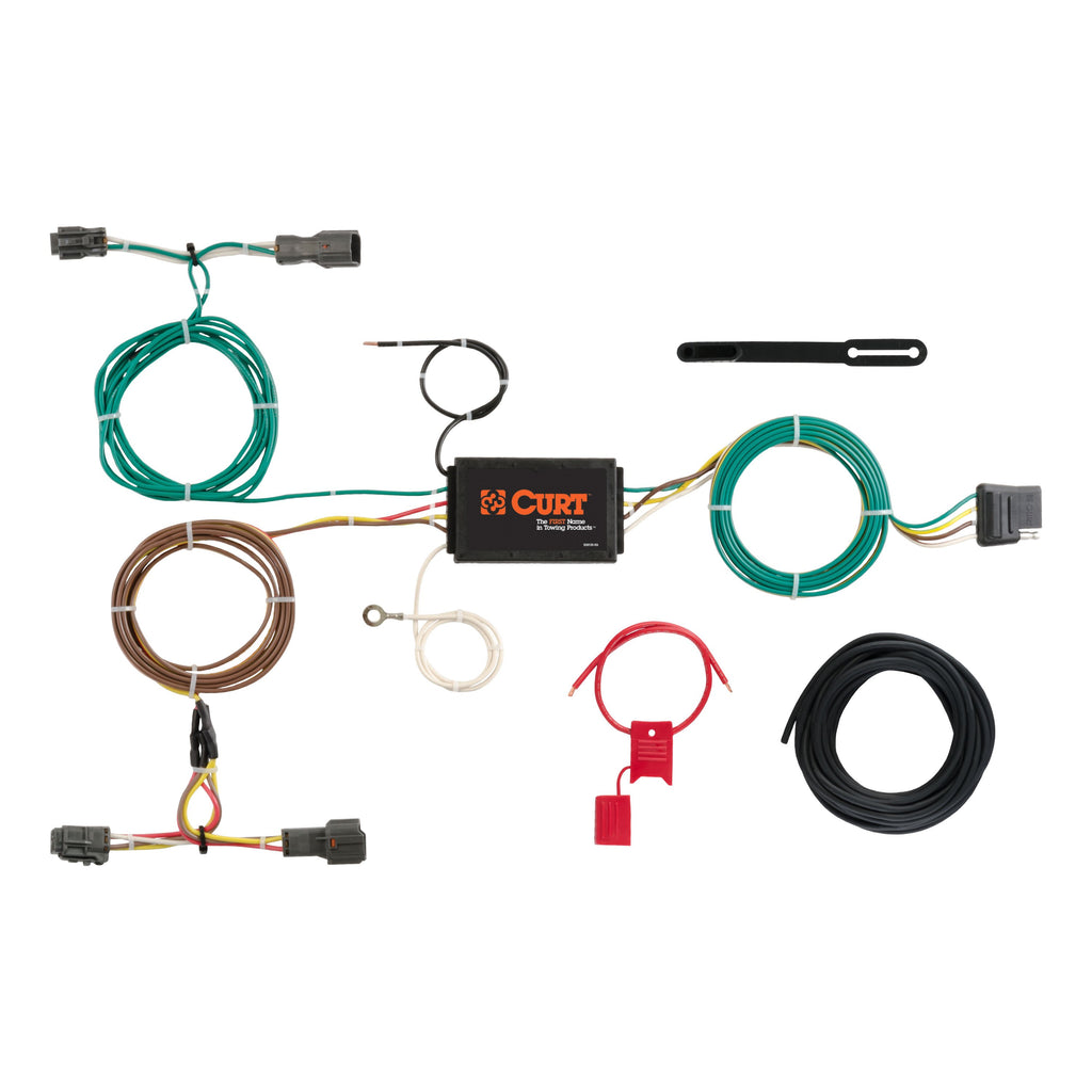CURT 56256 Vehicle-Side Custom 4-Pin Trailer Wiring Harness, Select Kia Sorento