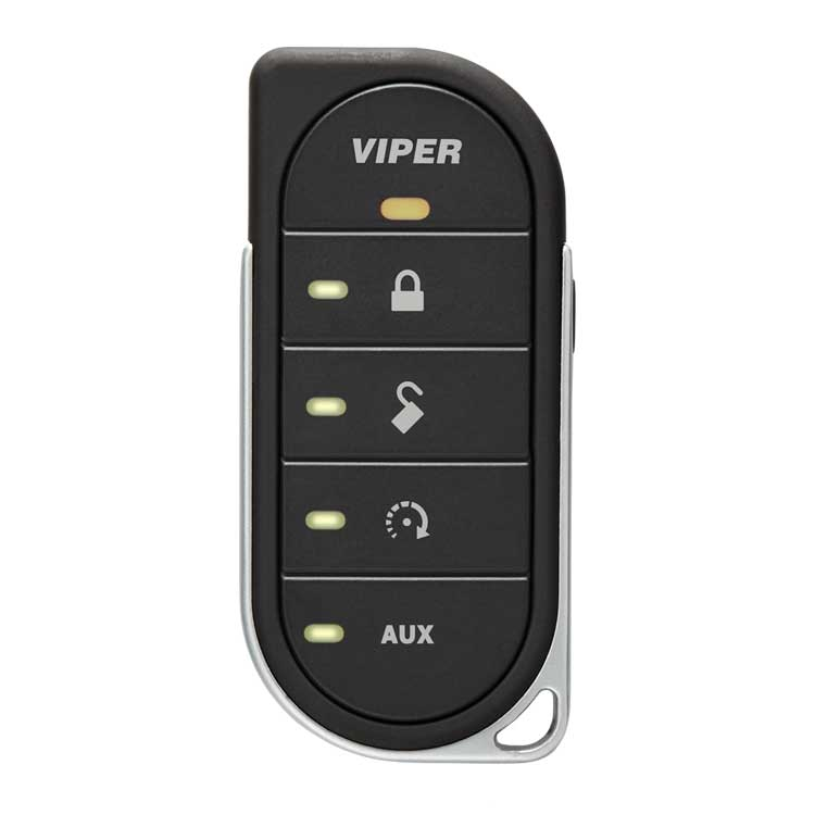 7857V - Five Button LED Viper Remote 2-way