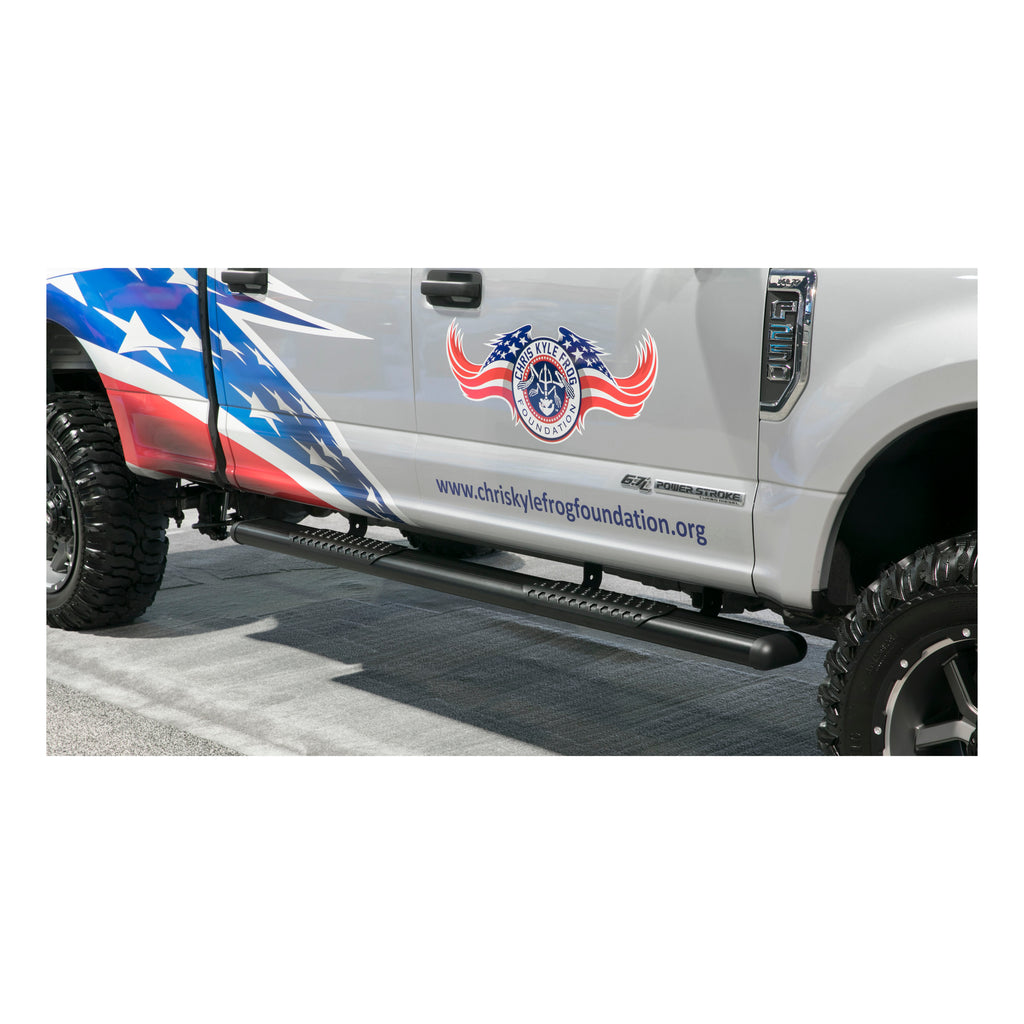 "O-Mega II 6"" x 88"" Black Aluminum Side Steps, Select Ford F-Series"