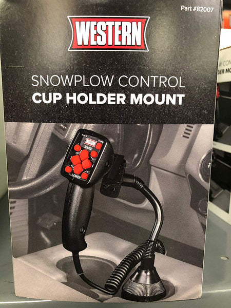 Western Snow Plow Controller Cup Holder Mount 82007