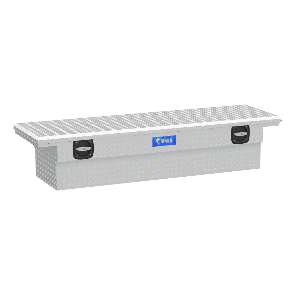 "Bright Aluminum 69"" Secure Lock Crossover Box with Low Profile (Heavy Packaging)"
