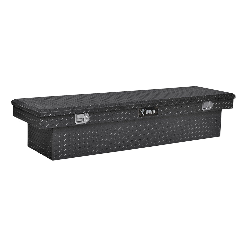 "Gloss Black Aluminum 63"" Crossover Truck Tool Box (Heavy Packaging)"