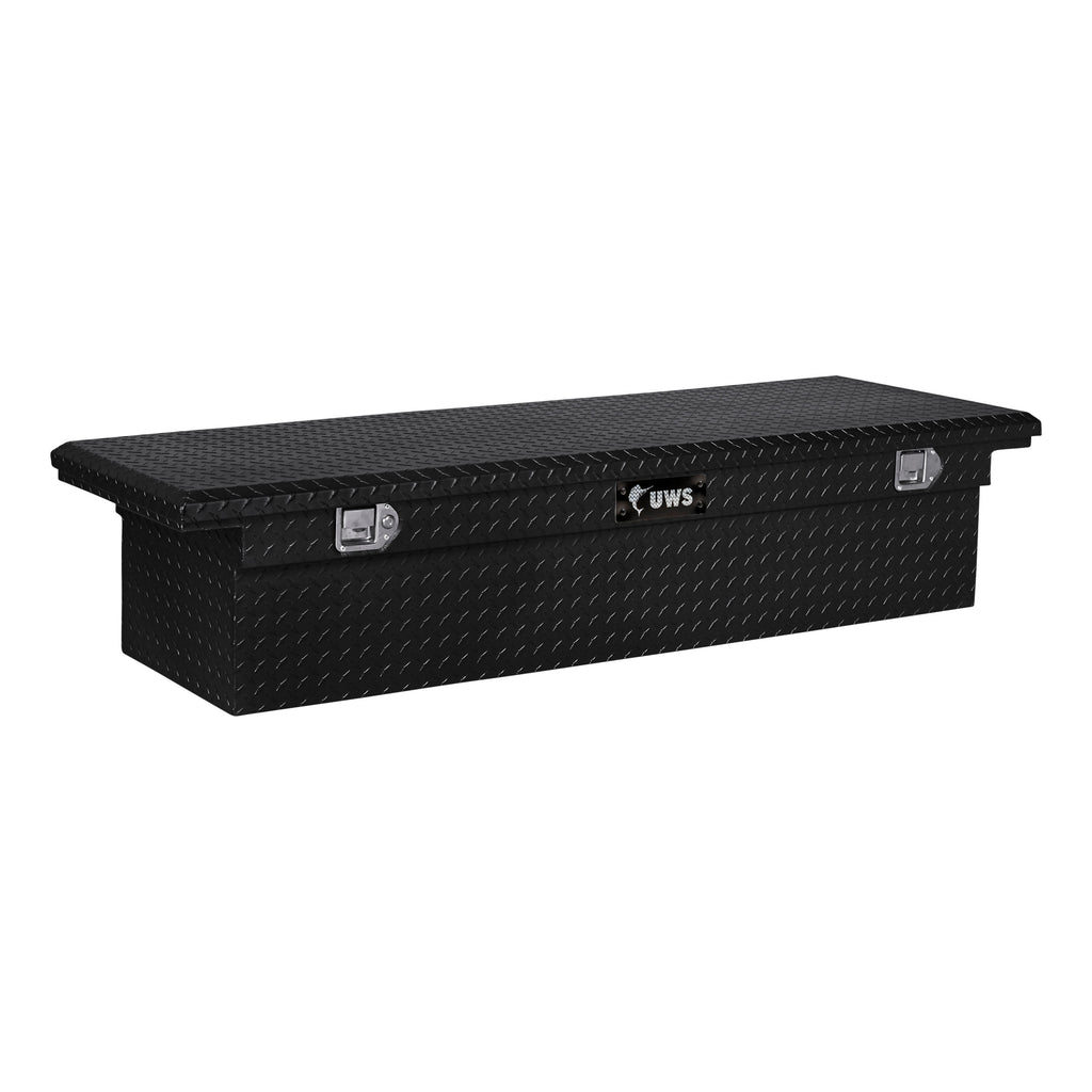 "Gloss Black Aluminum 72"" Truck Tool Box with Low Profile (Heavy Packaging)"