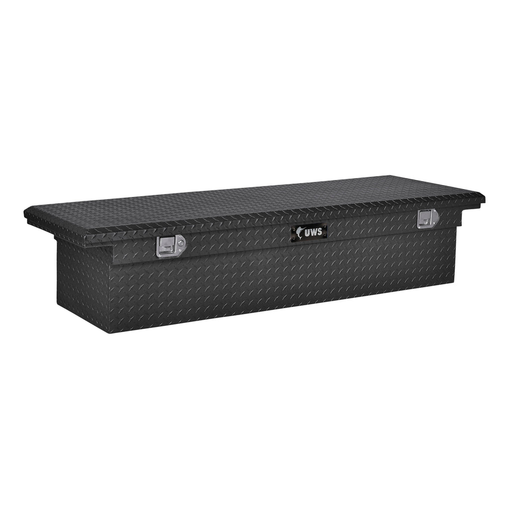 "Matte Black Aluminum 72"" Truck Tool Box with Low Profile (Heavy Packaging)"