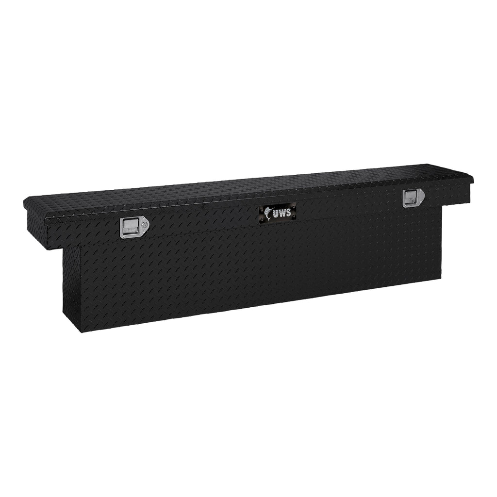 "Gloss Black Aluminum 69"" Deep Slim-Line Truck Tool Box (Heavy Packaging)"