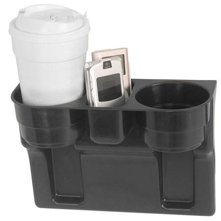 Dual 2-Cup Black Drink WEDGE CUP HOLDER