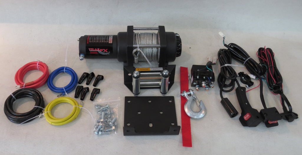 TrailFX ATV UTV Winch  4500 Pound Line Pull Capacity 250 amp cable style