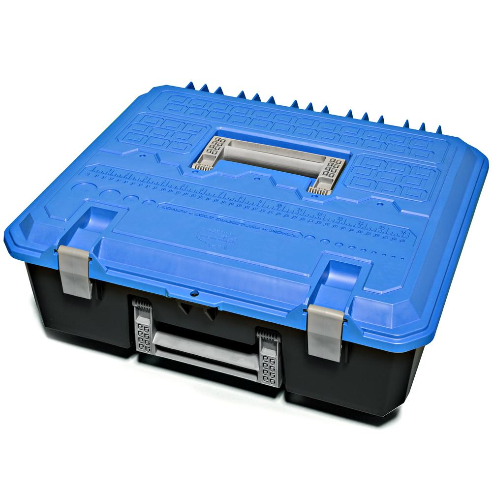 Decked AD5 Fits 1 D-Box - drawer tool box - blue lid Blue in color