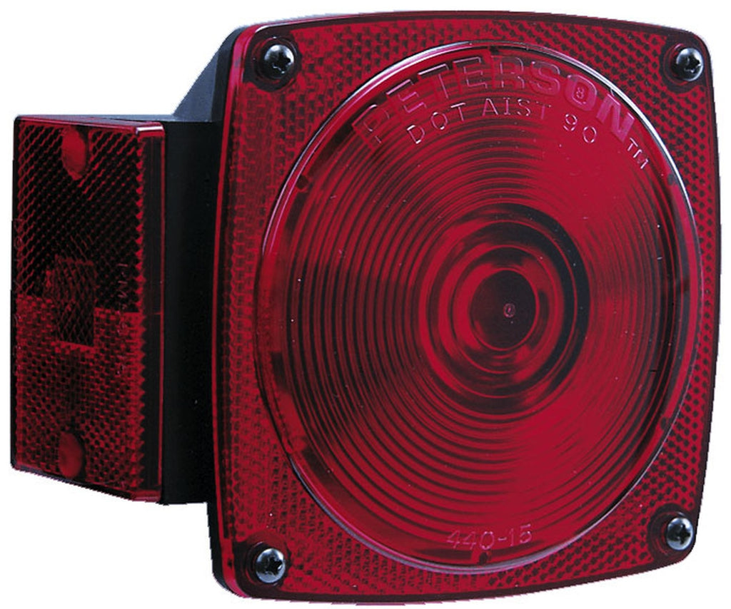 "Peterson 4"" Square Passenger Side Tail Light- Under 80"" #440L"