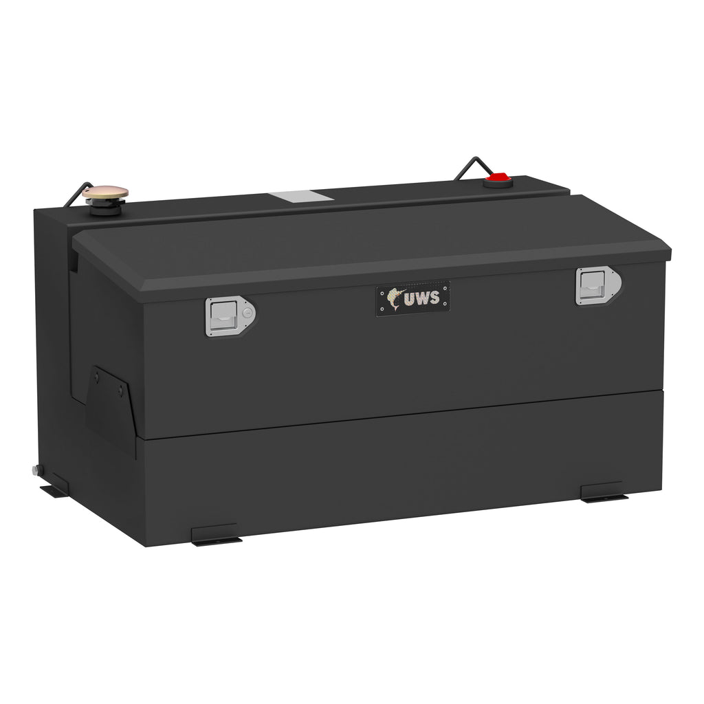Matte Black 75-Gallon Steel-Aluminum Combo Transfer Tank