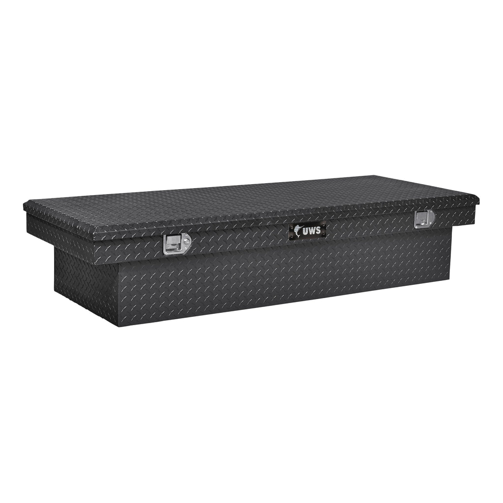 "Gloss Black Aluminum 72"" Extra-Wide Crossover Truck Tool Box"