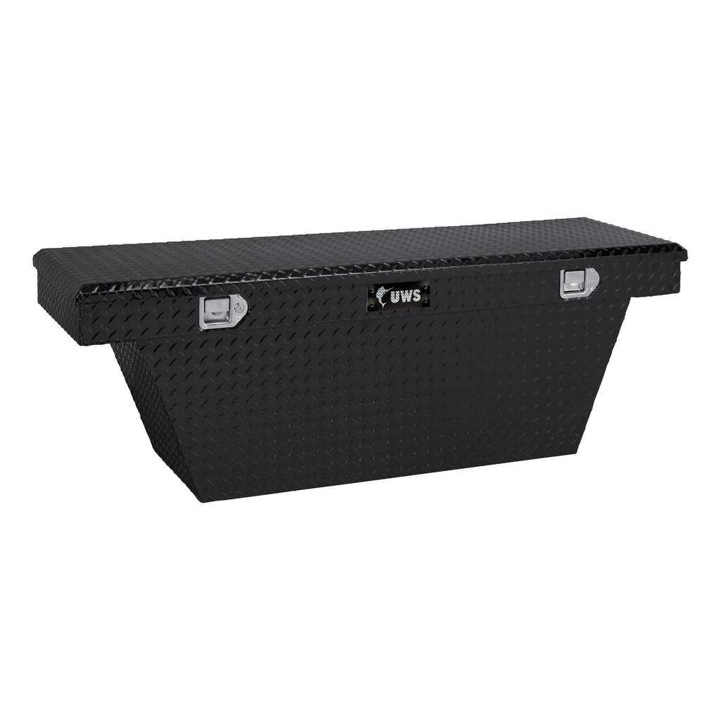 "Gloss Black Aluminum 60"" Deep Angled Truck Tool Box (LTL Shipping Only)"