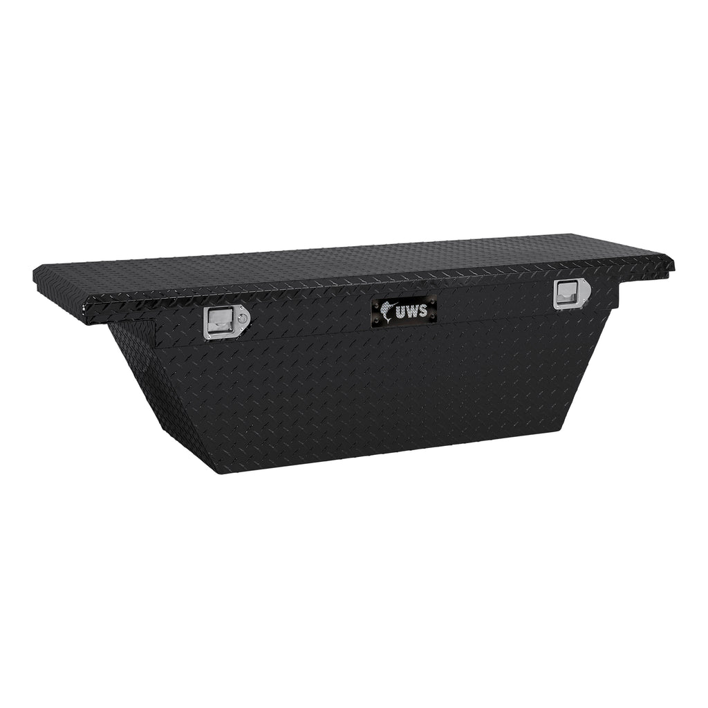 "Gloss Black 60"" Deep Angled Truck Tool Box, Low Profile (LTL Shipping Only)"