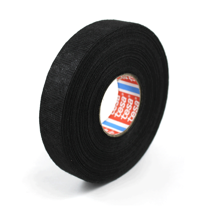 Fleece Tesa 20925 Wire Harness Tape, Black, 19mm x 25M