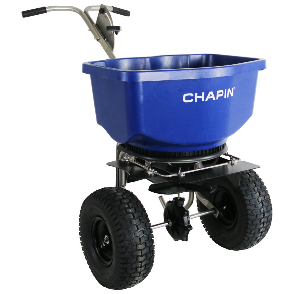 Chapin Professional Wide Mouth Rock Salt Spreader with 100 lb capacity