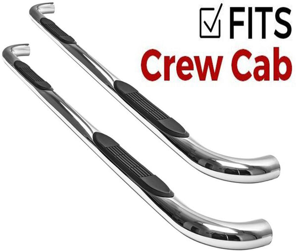 3in Retrac Tube Step Nerf Bar 1999-2016 Ford F250/F350 Super Duty Crew Cab SuperCrew Stainless Steel - 108535
