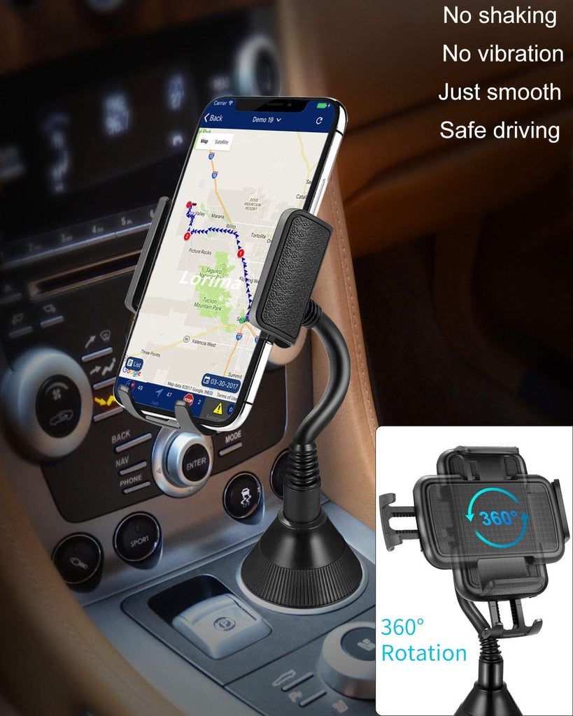 Cup Phone - Universal Adjustable Portable Cup Holder Car Mount for Cell Phones