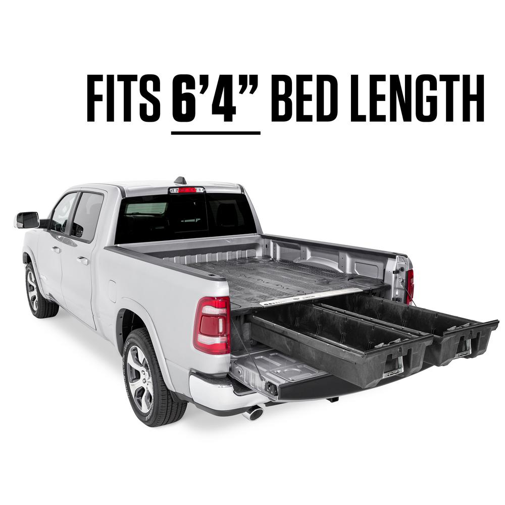 "Decked DR7 Fits 6' 4"" RAM 1500 (2019-current) - New body style Black in color"