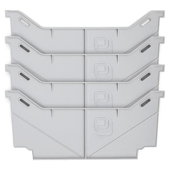 Decked AD8WIDEx4 Fits 4 Locking tab wide drawer dividers - (1) one set of four Light gray in color