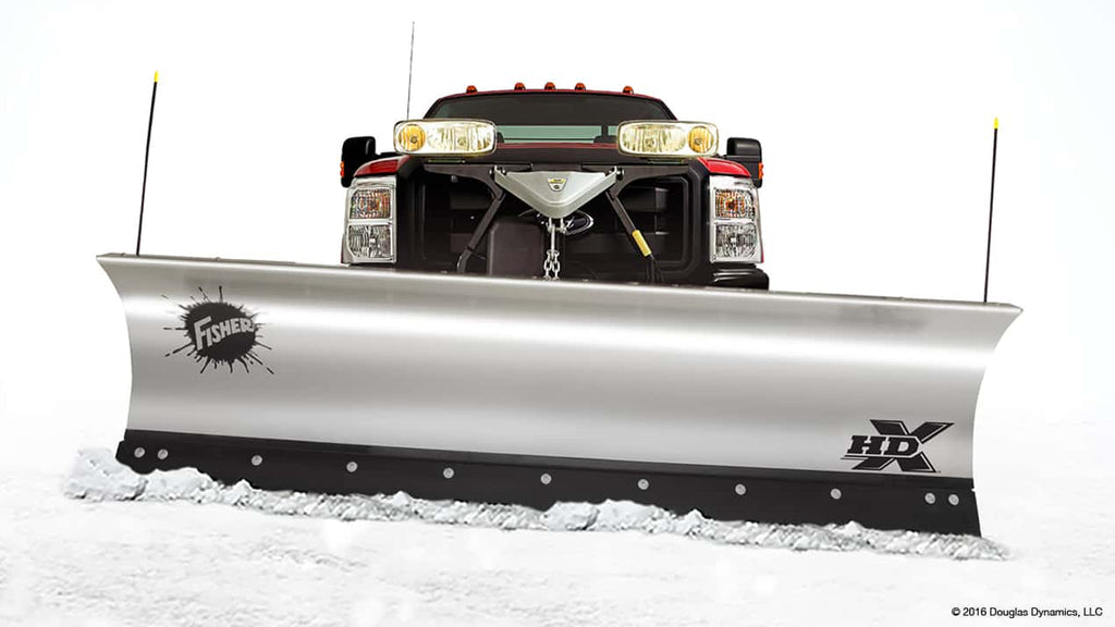 HDX Fisher Adjustable 9' Stainless Steel Plow