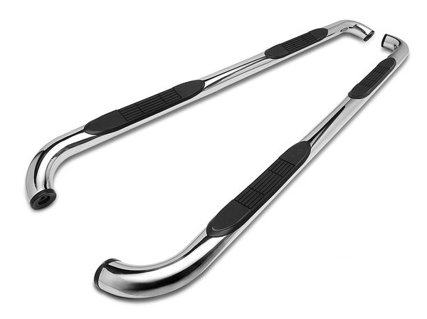 3in SS Retrac Tube Step Nerf Bar Ford F-150 Super Crew 2015 or 2017+ Super Duty Crew Cab - Stainless Steel 109682