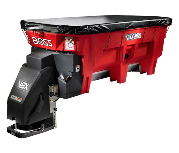 BOSS Salter V-BOX SPREADER, 9' PINTLE CHAIN