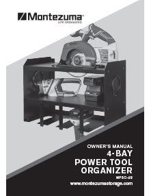 Montezuma 2-Bay Power Tool Organizer Manual