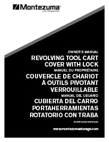 The Deluxe Revolving Tool Cart Cover Manual