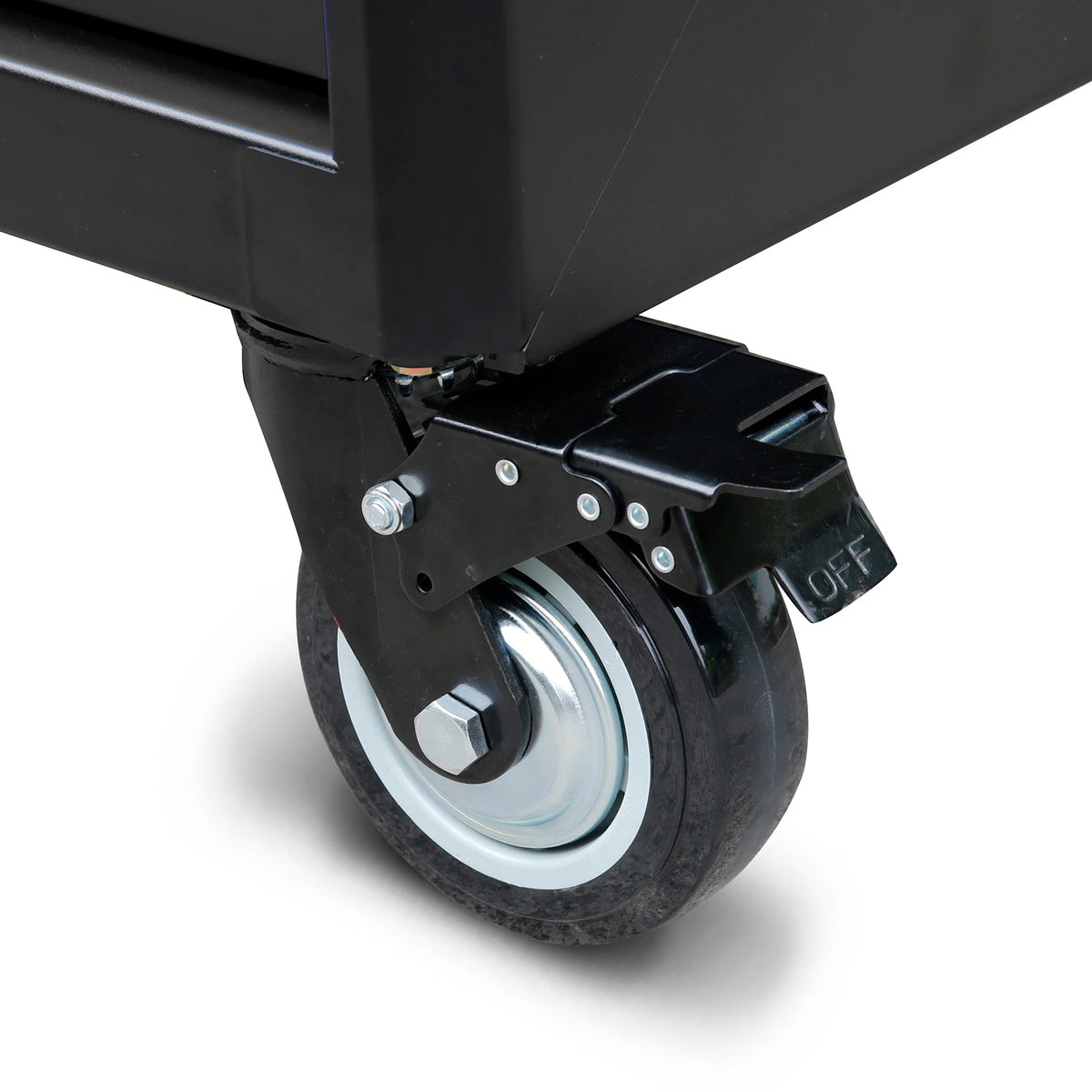 Tool Cabinet: Rugged casters