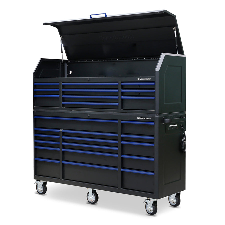 72 x 20 in. 16-Drawer Tool Cabinet