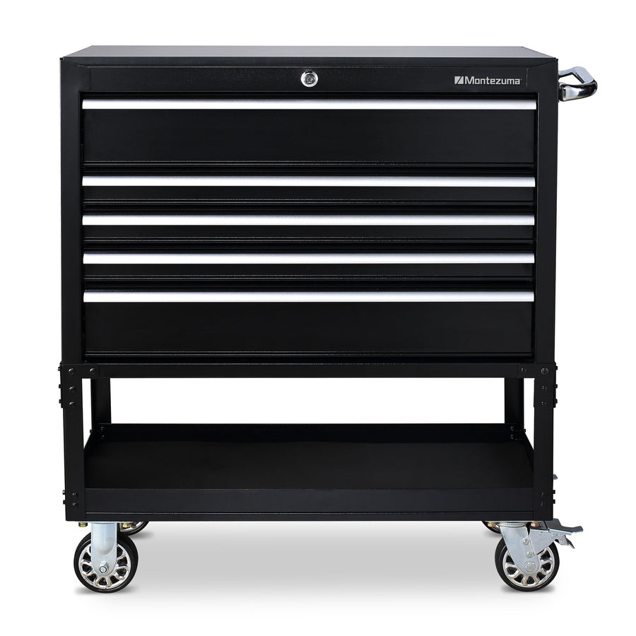 Montezuma service cart with drawers and casters