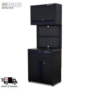 1-Drawer, 3-Door Workstation