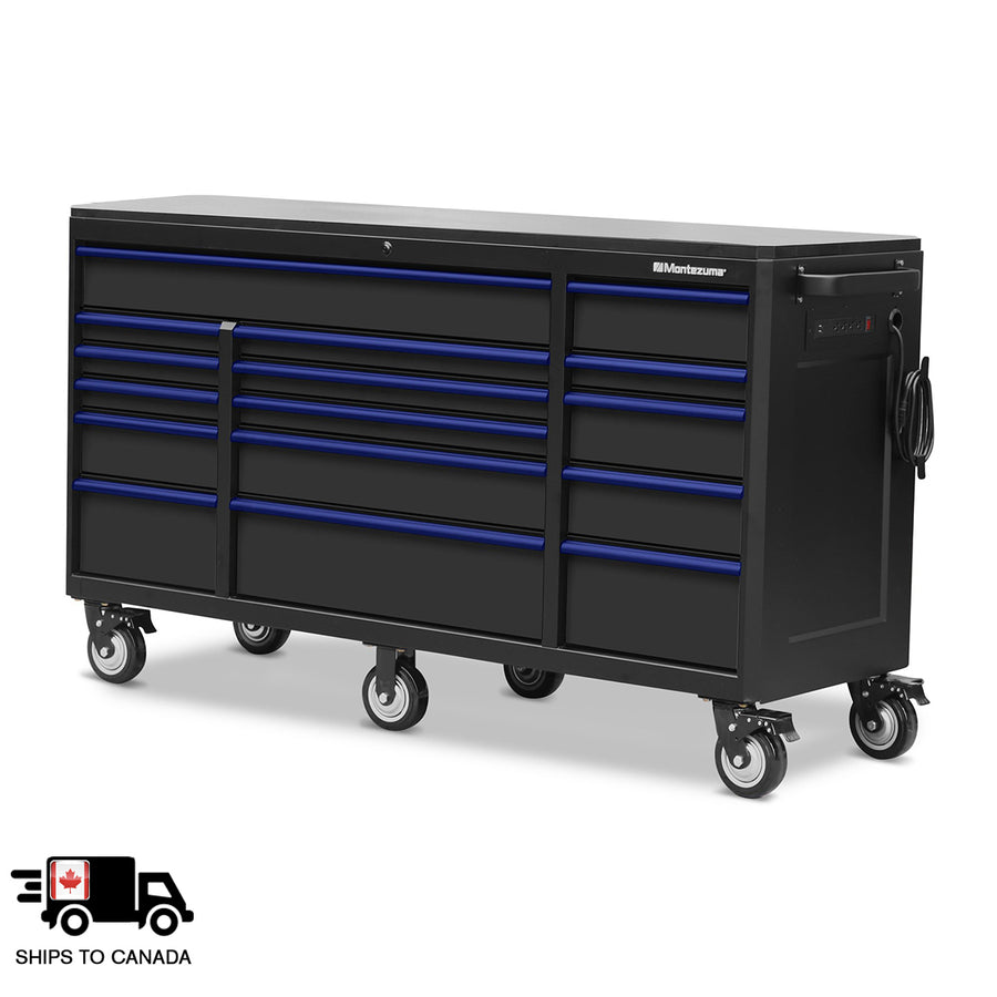 72 x 24 in. 16-Drawer Tool Cabinet