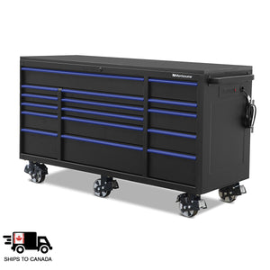 72 x 30 in. 16-Drawer Tool Cabinet