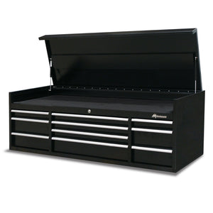 Montezuma storage tool chest with drawers and lid