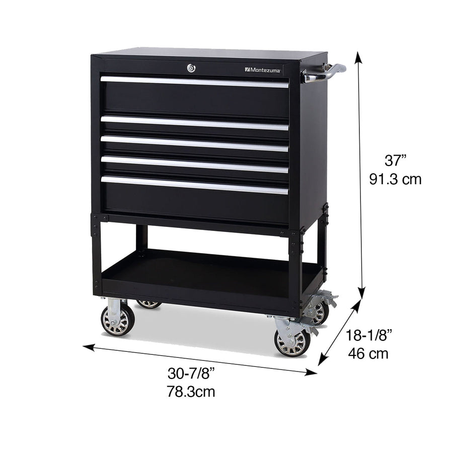 30 in. 5-Drawer Utility Cart