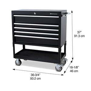 36 x 17 in. Steel Triangle® Toolbox and 36 in. 5-Drawer Utility Cart Combo