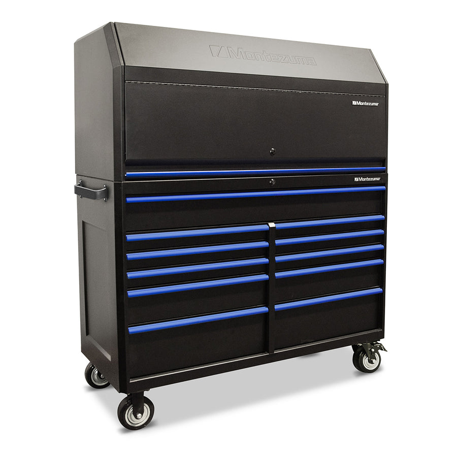 56 x 24 in. Tool Hutch and 11-Drawer Cabinet Combo