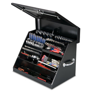 Montezuma portable steel triangle toolbox SE250B, locking storage