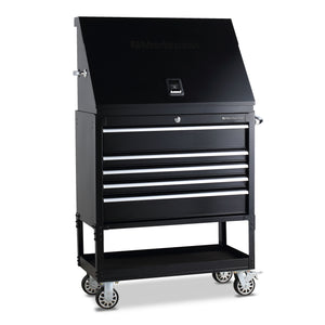 Montezuma portable triangle toolbox with utility cart