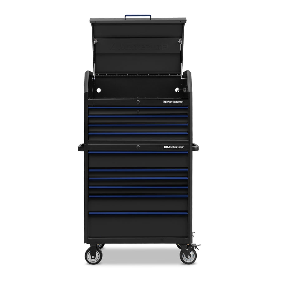 Montezuma tool chest and tool cabinet with casters