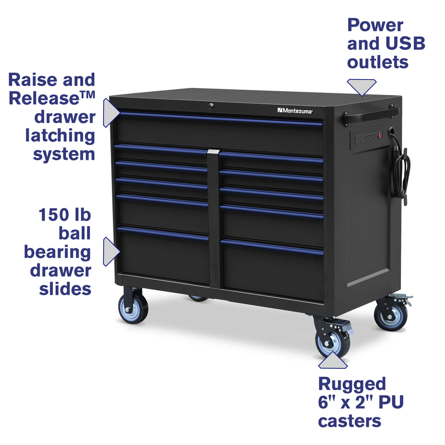 46 x 24 in. 11-Drawer Tool Cabinet