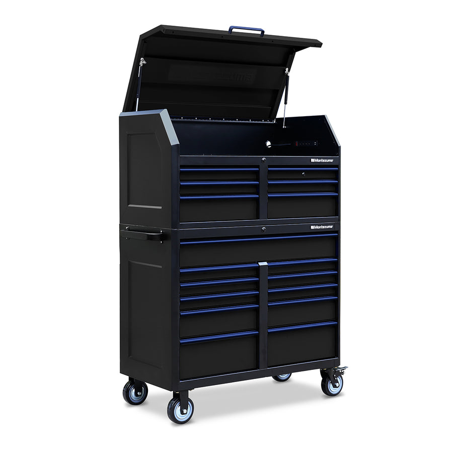 Montezuma tool chest and tool cabinet combo with casters