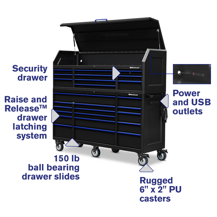 72 x 24 in. 26-Drawer Tool Combo