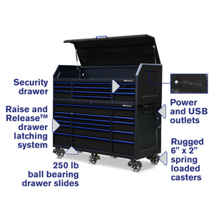 72 x 30 in. 26-Drawer Tool Combo