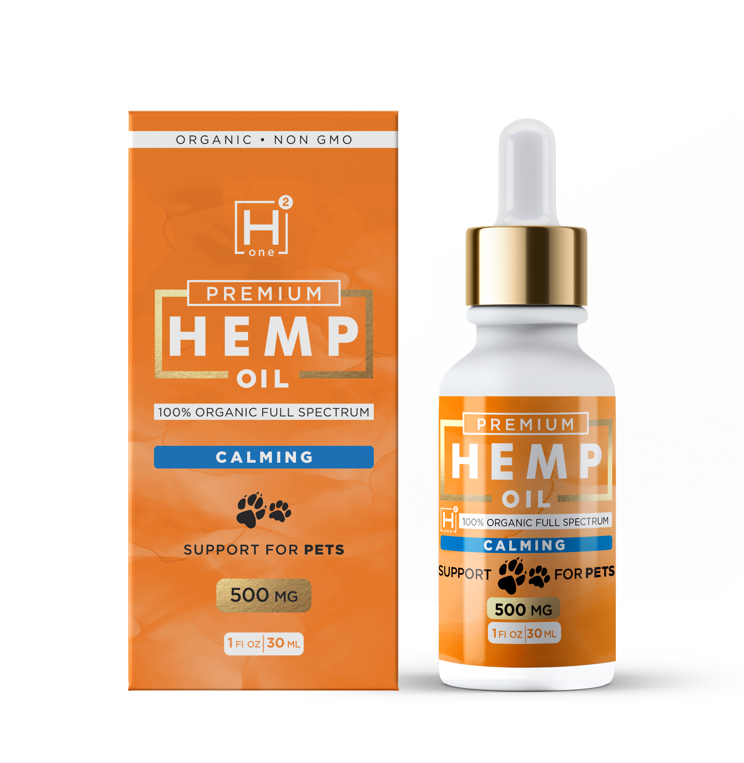 Calming Pet Oil (500 MG) - Hemp Health One